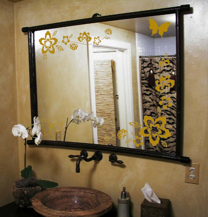 Perfect a mirror surface are very thin and easy to remove without any residues elegant wall