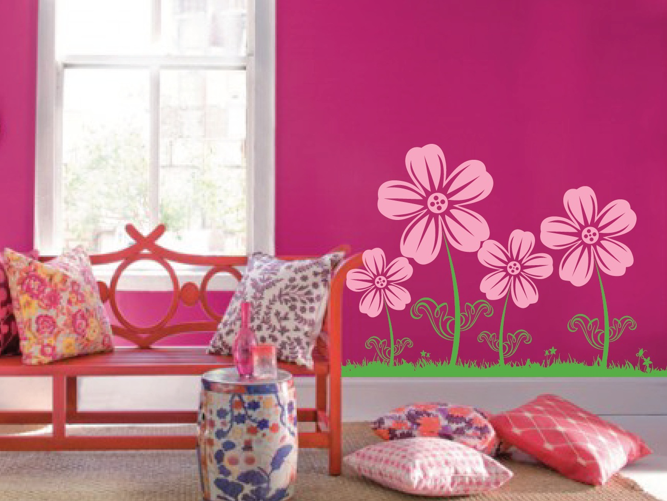 Large Wall Flower Nursery Decal 1123 Innovativestencils