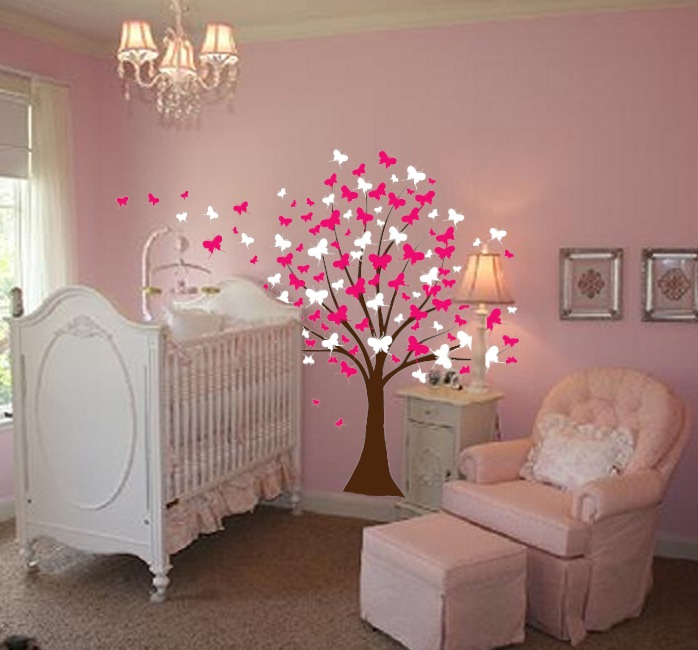 Baby Girl Room Decor Stickers