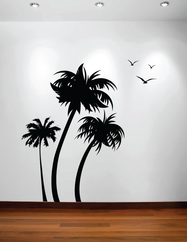 palm tree wall decals 2017 grasscloth wallpaper