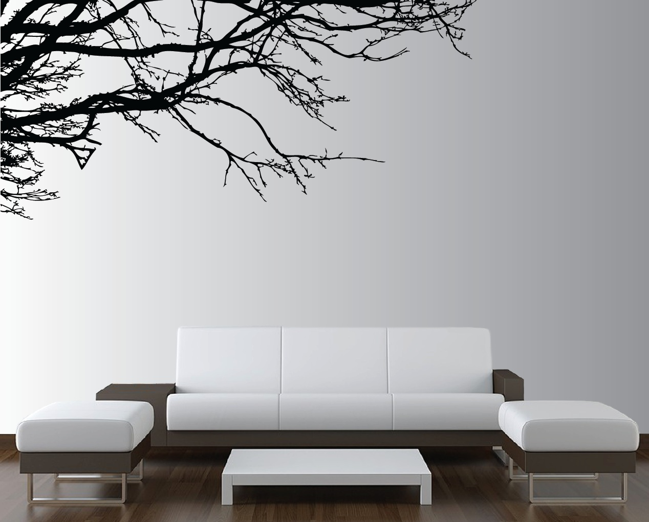 Large wall tree nursery decal oak branches 1130 - Wall sticker ideas for living room ...